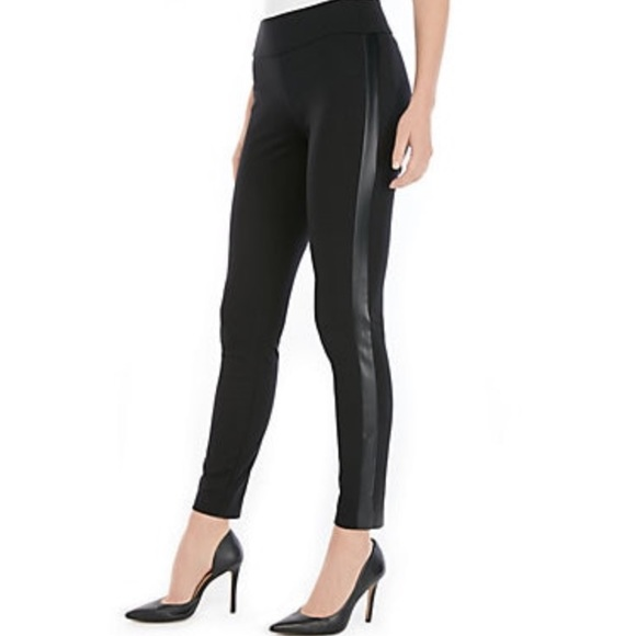 The Limited Pants - The Limited Leather Side Panel Stretch Pants